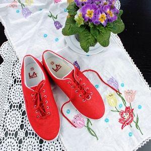 Vintage 90's LA Gear Red Tennis Shoes NEVER WORN